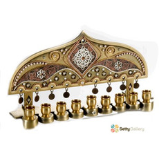 Ester Shahaf Gold And Copper Menorah - One Left