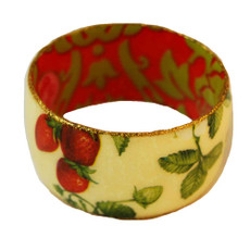 Iris Designs Cold Enamel Strawberries Field Bangle