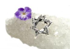 The Six Combinations Silver Kabbalah Pendant W/ Star Of David Design