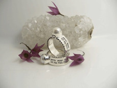 Women Of Valor Kabbalah Ring From Silver With Embedded Pearl