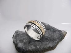 Ben Porat Yosef Silver And Gold Kabbalah Ring For Protection
