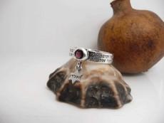 12 Kings Ring W/ Garnet Stone