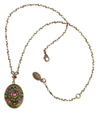 Michal Negrin Classic Oval Locket Necklace