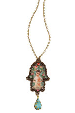 Michal Negrin Classic Hamsa With A Drop Necklace - Multiple Options