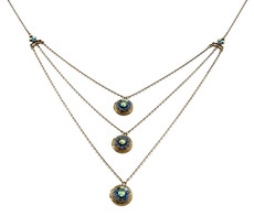 Michal Negrin Classic 3 Rows Locket Necklace