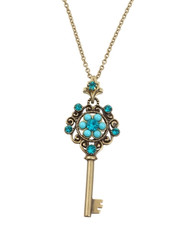 Michal Negrin Kabbalah Key Necklace From The Classic Collection - 100-124520-007 - Multiple Options