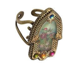 Hamsa Ring By Michal Negrin Classic - Multi Color
