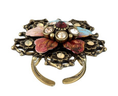 Michal Negrin Classic Crystal Flower Ring