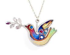 Israeli Jewelry Dove Necklace