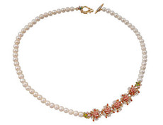Michal Negrin Gold Roses Necklace - One Left