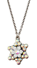 Evil Eye David Necklace By Michal Negrin - Multi Color