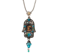 Evil Eye Hand Hamsa Necklace From Silver