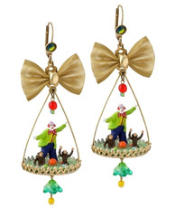 Michal Negrin Circus Hook Earrings - Multi Color