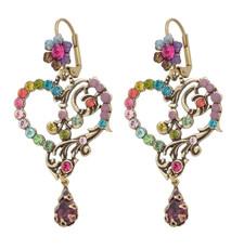 Michal Negrin Classic Earrings Heart Hook - Multiple Options