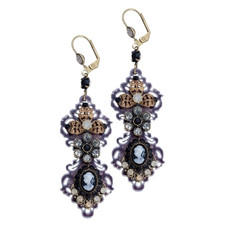 Lovely Earrings From The Michal Negrin Classic Collection - Multi Color