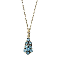 Michal Negrin Classic Necklace Crystal Flower - 100-140290-115 - Multi Color