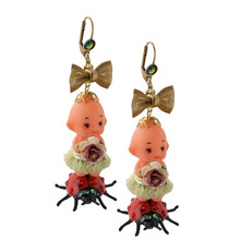 Michal Negrin Jewelry Baby On A Ladybug Hook Earrings