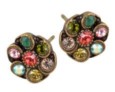 Michal Negrin Post Crystal Earrings