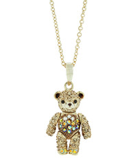 A Beautiful Teddy Bear Gold Necklace From Andrew Hamilton Crawford Jewelry