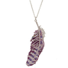 Andrew Hamilton Crawford Large Feather Pendant Necklace
