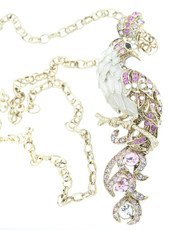 A Lovely Lady Bird Necklace Gold Necklace From Andrew Hamilton Crawford Jewelry