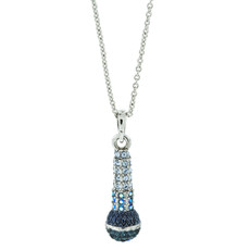 A Lovely Microphone Pendant Silver Necklace From Andrew Hamilton Crawford Jewelry