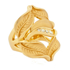 Andrew Hamilton Crawford Rings Petal Ring Gold