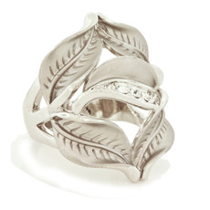 Andrew Hamilton Crawford Jewelry Petal Ring Silver Rings