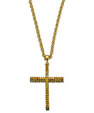 Andrew Hamilton Crawford Jewelry Sparkle Cross Gold Necklace