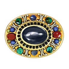 Michal Golan Jewelry Durango Oval Pin