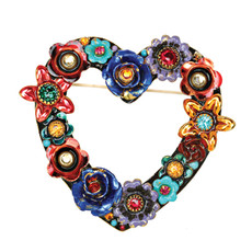 Michal Golan Jewelry Eden Open Heart Pin