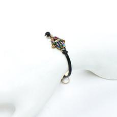 Michal Golan Hamsa Bracelet - Small Black Multi Hamsa
