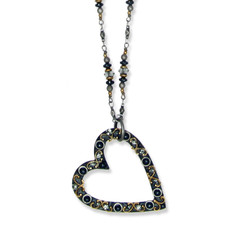 Michal Golan Necklace - Metallica Open Heart On Chain