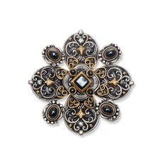 Michal Golan Jewelry Metallica Large Floral Pin
