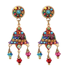 Michal Golan Earrings - Multibright 2 Parts Triple Dangles