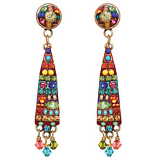 Michal Golan Earrings - Multibright Long 2 Parts Dangle