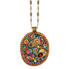 Michal Golan Confetti Oval On Chain Necklace