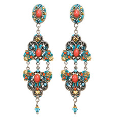 Michal Golan 3 Part Coral Sea Earrings