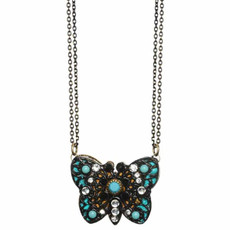 Michal Golan Jewelry Butterfly Azure Necklace