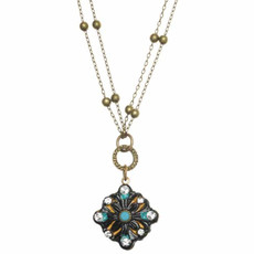 Michal Golan Diamond On Multi Chain Azure Necklace
