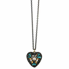 Michal Golan Jewelry Heart Azure Necklace