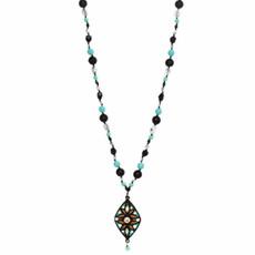Michal Golan Long Diamond W/ Dangling Crystals