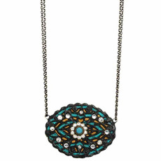 Michal Golan Large Oval Azure Necklace