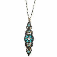 Michal Golan Long Thin Azure Necklace