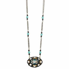 Michal Golan Oval Azure Necklace