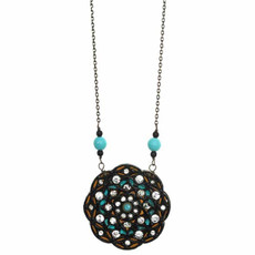 Azure Flower Necklace From Michal Golan
