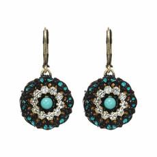 Michal Golan Round Flower Earrings