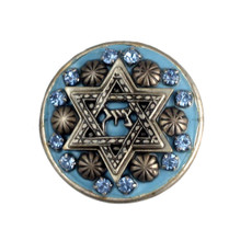 Michal Gola Blue And Silver Star Of David