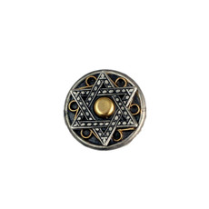 Silver And Gold Star Of David
