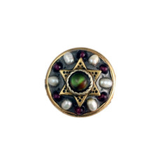Garnet Pearl And Abalone Star Of David